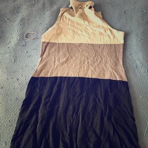 INC cowlneck sleeveless knit dress